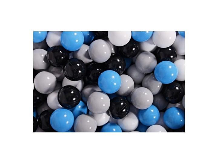 MeowBaby® Zestaw Plastikowych Piłeczek 400szt Ø7cm niebieskie, szare, czarne