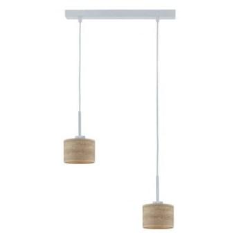 Lampa wisząca zwis TULIP NATURAL abażur walec 2xE27
