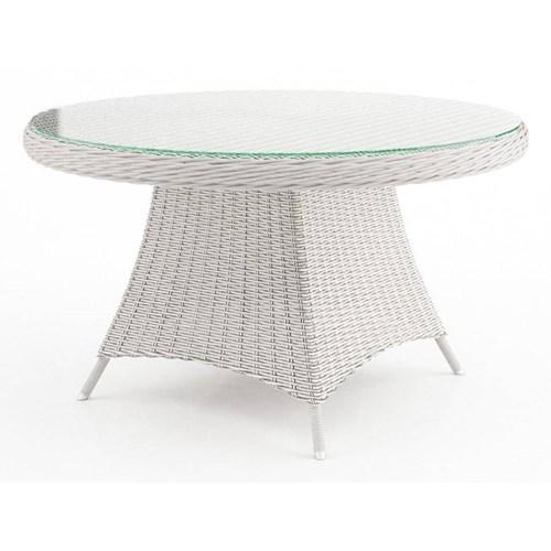 Stół ogrodowy RONDO 130cm royal biały