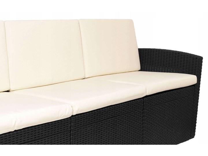 Zestaw mebli ogrodowych SIESTA GRAFIT - BEŻ 4w1 Rattan Technorattan Kolor Biały Zawartość zestawu Sofa