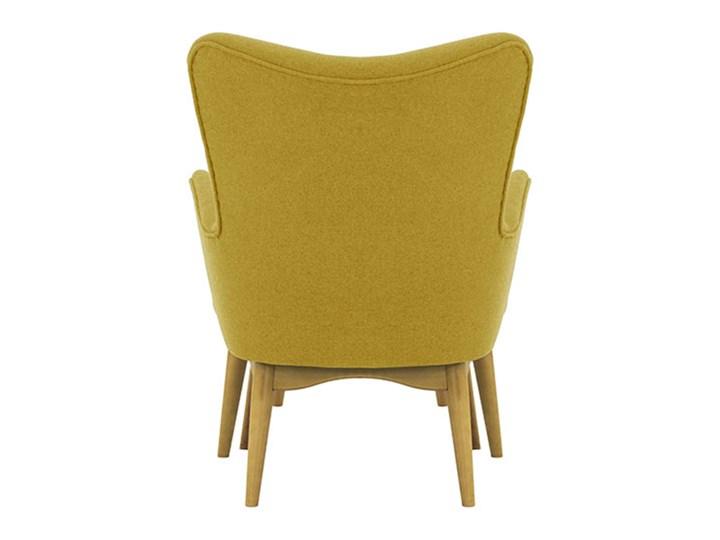 Fotel uszak z podnóżkiem Savano Drewno Wysokość 97 cm Tkanina Fotel z podnóżkiem Szerokość 78 cm Głębokość 86 cm Fotel pikowany Kategoria Fotele do salonu