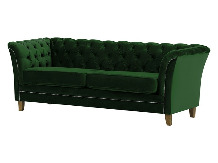 Sofa trzyosobowa Karin Chesterfield Szerokość 211 cm Głębokość 81 cm Boki Z bokami Materiał obicia Tkanina