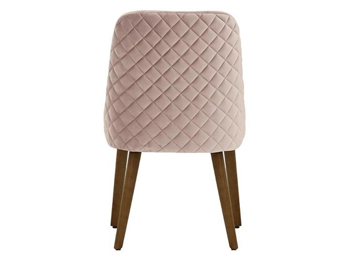 Krzesło z przeszyciami Albion Drewno Pikowane Tkanina Wysokość 87 cm Głębokość 58 cm Szerokość 51 cm Pomieszczenie Jadalnia