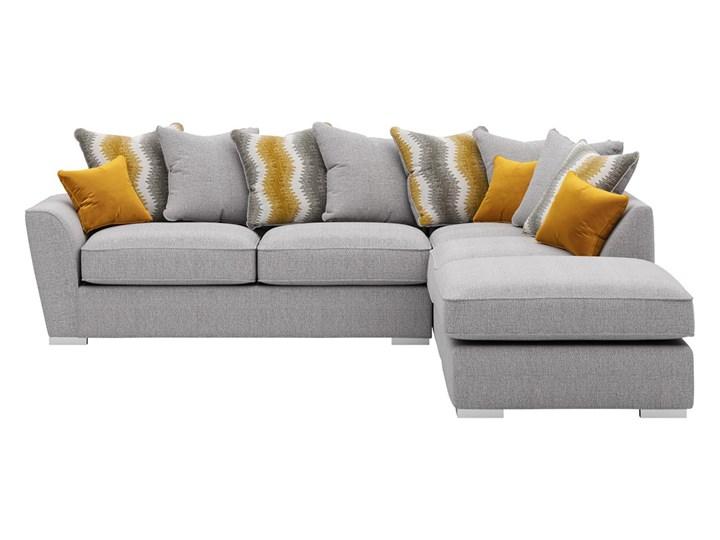 Narożnik prawostronny z luźnymi poduszkami Majestic Wysokość 100 cm Szerokość 280 cm Wykonanie siedziska Pianka
