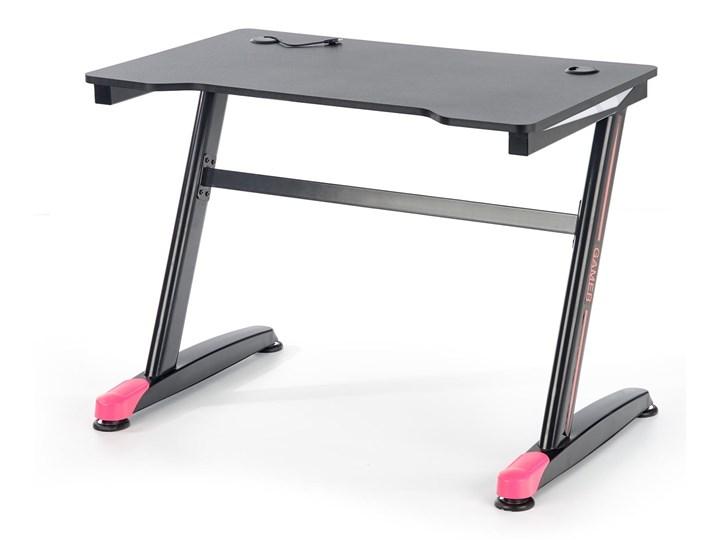 Gamingowe biurko z oświetleniem LED B40 Biurko gamingowe Stal Metal Biurko komputerowe Płyta MDF Głębokość 60 cm Biurko z nadstawką Szerokość 100 cm Pomieszczenie Pokój nastolatka