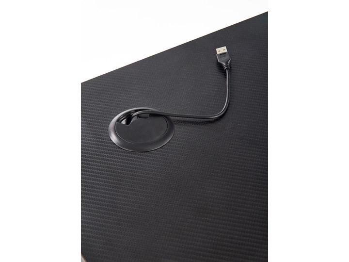 Gamingowe biurko z oświetleniem LED B40 Biurko z nadstawką Płyta MDF Szerokość 100 cm Biurko gamingowe Biurko komputerowe Metal Głębokość 60 cm Stal Kategoria Biurka
