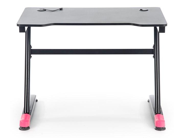 Gamingowe biurko z oświetleniem LED B40 Głębokość 60 cm Biurko z nadstawką Szerokość 100 cm Biurko komputerowe Płyta MDF Stal Metal Biurko gamingowe Pomieszczenie Pokój nastolatka