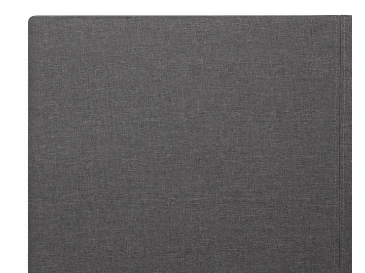 Łóżko ze stelażem szare tapicerowane materiałem z pojemnikiem 160 x 200 cm minimalistyczny wygląd Rozmiar materaca 160x200 cm Łóżko tapicerowane Styl Nowoczesny