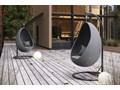 Fotel wiszący KOKON royal szary Wiszące Technorattan Metal Rattan Bujane Tworzywo sztuczne Kokony Kategoria Fotele ogrodowe