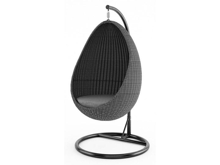 Fotel wiszący KOKON royal szary Wiszące Metal Bujane Kokony Tworzywo sztuczne Rattan Technorattan Kategoria Fotele ogrodowe