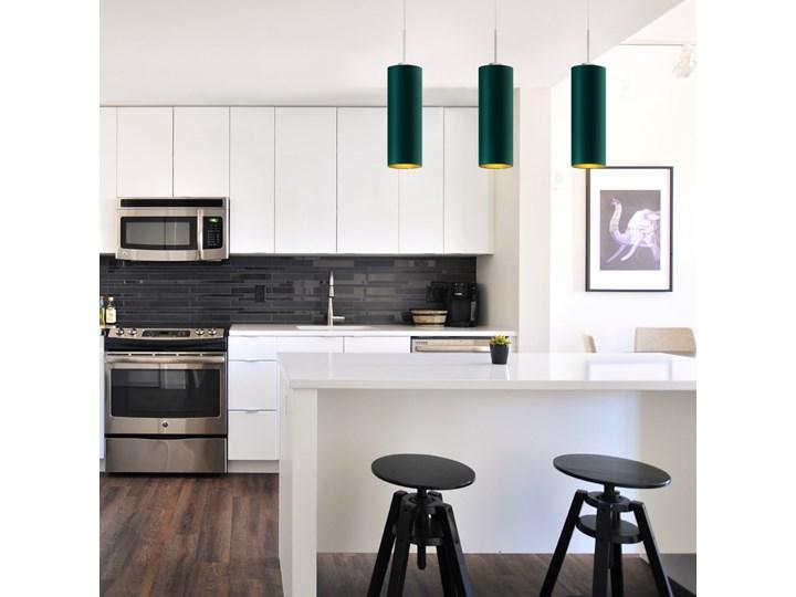 Lampa wisząca do kuchni ELBA GOLD WYSYŁKA 24H Chrom Lampa z abażurem Tkanina Kategoria Lampy wiszące Metal Stal Funkcje Brak dodatkowych funkcji