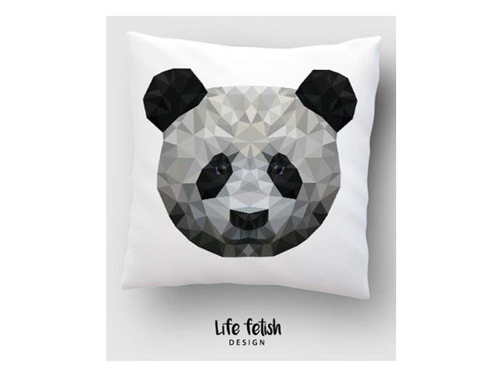 Panda Dzianina Kwadratowe Poliester 40x40 cm Poszewka dekoracyjna Wzór Z nadrukiem
