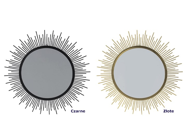 Glamour lustro Reos - złote Ścienne Lustro z ramą Okrągłe Kategoria Lustra