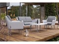 Meble ogrodowe MONZA royal białe Technorattan Aluminium Stoły z krzesłami Zestawy wypoczynkowe Tworzywo sztuczne Zawartość zestawu Fotele