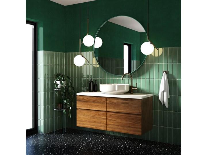 Lustro Scandi Slim – zielona rama Lustro z ramą Ścienne Okrągłe Styl Nowoczesny Pomieszczenie Salon