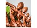 Rzeźba JOGIN MANO PETIT Kolor Zielony Drewno Kolor Zielony