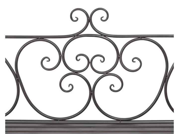 Metalowa ławka ogrodowa Konta - brązowa Długość 132 cm Stal Z oparciem Kolor Brązowy Kategoria Ławki ogrodowe