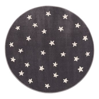 Dywan okrągły Soft Gwiazdy 133 cm granitowy