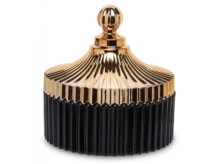 Pojemnik szklany Hugo duży Szklane Kategoria Pojemniki do łazienki Pojemnik na akcesoria kosmetyczne Kolor Czarny