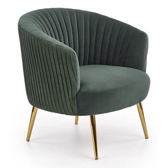 Fotel Crown - ciemnozielony