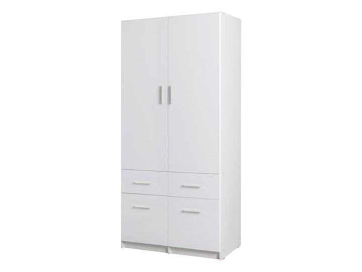 Salony Agata  Szafa ALPIN 2D4S TYP 03 Tworzywo sztuczne Kolor Biały Płyta MDF Ilość drzwi Dwudrzwiowe