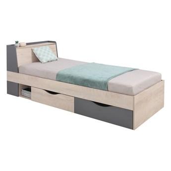 Łóżko DELTA 90 z szufladami z stelażem      90x200 Salony Agata