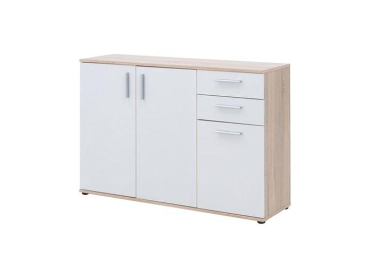 Salony Agata  Komoda TETRIS 02 3D2S Płyta laminowana Kolor Biały Pomieszczenie Sypialnia