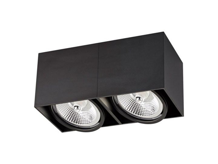 Salony Agata  Spot BOX2 ACGU10-117 czarny Oprawa stropowa Prostokątne Kategoria Oprawy oświetleniowe