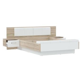 Łóżko i szafki nocne RONDINO 2 RDNL1611B-C856    BIAŁY_KREMOWY   Salony Agata