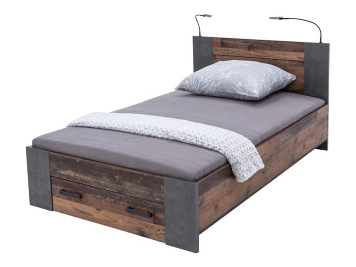 Salony Agata  Łóżko CLIF CLFL1141- C546 140x200 cm      140x200 Łóżko drewniane Drewno Styl Industrialny