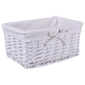 Koszyk wiklinowy 30x20x15 cm biały