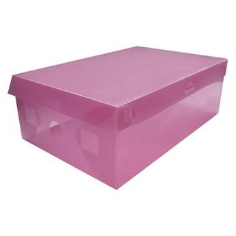 Pudełko na buty z pokrywką S - fuksja