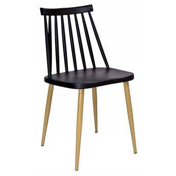 Krzesło retro KENDO CZARNE
