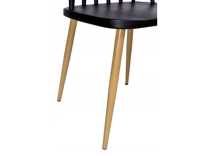 Krzesło retro K-KEN BLACK Szerokość 33 cm Wysokość 36 cm Drewno Tworzywo sztuczne Szerokość 42 cm Metal Styl Vintage Wysokość 78 cm Głębokość 37 cm Kolor Czarny