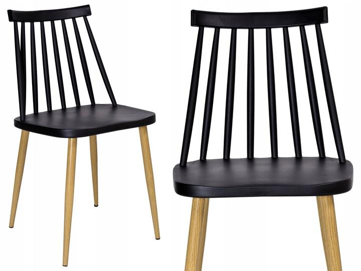Krzesło retro K-KEN BLACK Głębokość 37 cm Tworzywo sztuczne Metal Szerokość 33 cm Szerokość 42 cm Wysokość 78 cm Drewno Wysokość 36 cm Pomieszczenie Salon