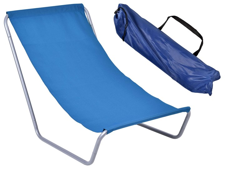 Leżak turystyczny plażowy składany Olek - granatowy Metal Składane Kategoria Leżaki ogrodowe Kolor