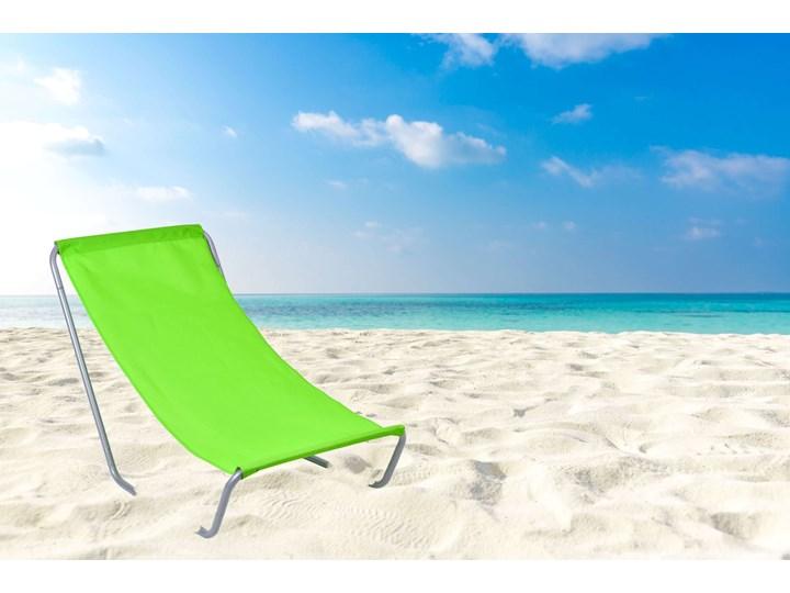 Leżak turystyczny plażowy składany Olek - limonka Metal Składane Kolor Zielony Kategoria Leżaki ogrodowe