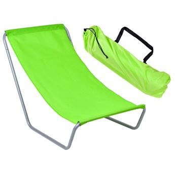 Leżak turystyczny plażowy składany Olek - limonka