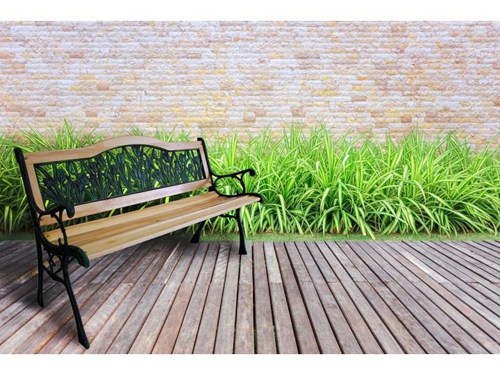 Ławka ogrodowa żeliwna TULIP Drewno Tworzywo sztuczne Z oparciem Długość 120 cm Styl Klasyczny Kategoria Ławki ogrodowe