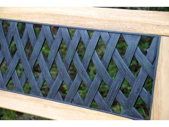 Ławka ogrodowa żeliwna KARO Drewno Z oparciem Tworzywo sztuczne Długość 120 cm Kategoria Ławki ogrodowe