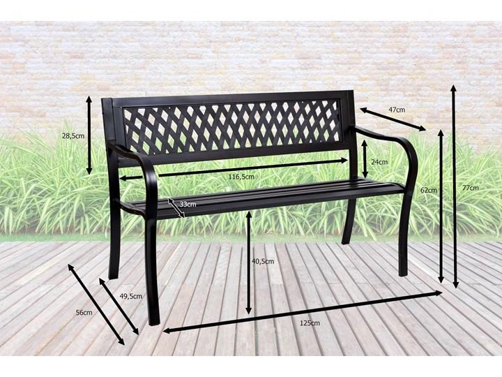 Ławka ogrodowa stalowa ROMBO