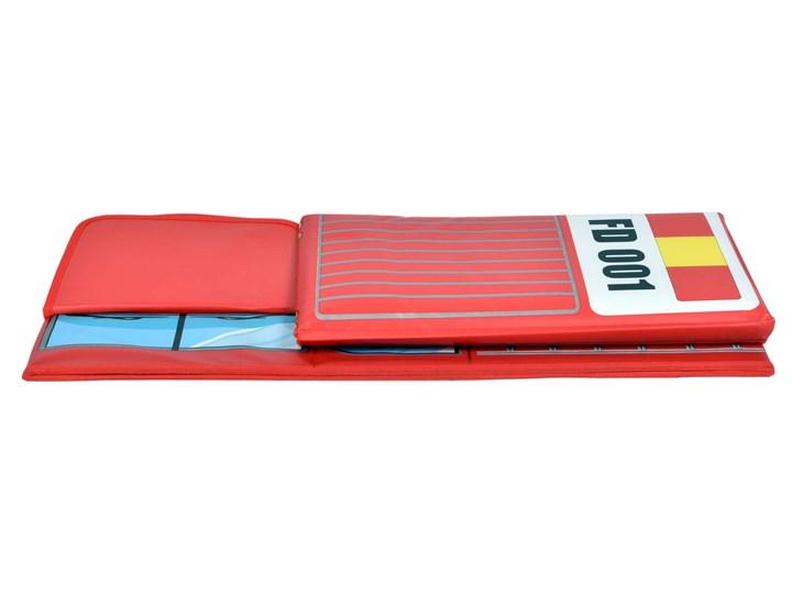 Pufa pojemnik wóz strażacki - czerwony Tworzywo sztuczne Kolor Szary Siedzisko Kolor Szary
