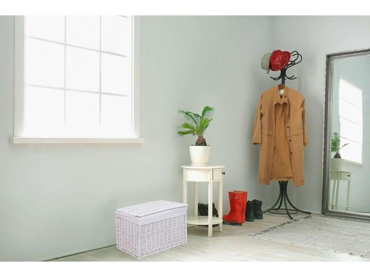 Kufer wiklinowy 66x40x40 cm - 105L - biały Wiklina Kolor Szary