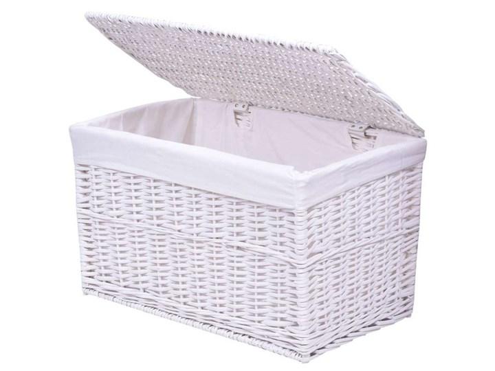 Kufer wiklinowy 66x40x40 cm - 105L - biały Kolor Szary Wiklina Kolor Szary