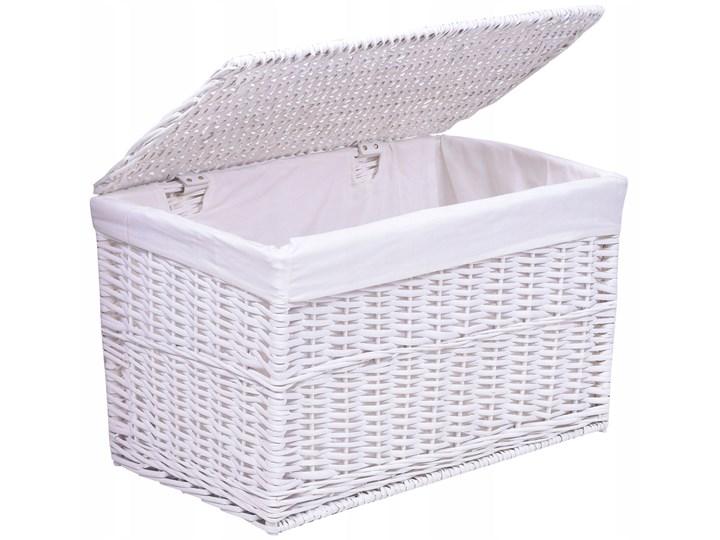 Kufer wiklinowy 66x40x40 cm - 105L - biały