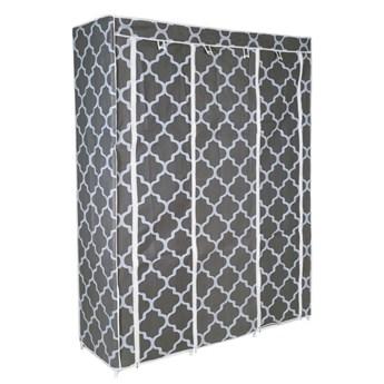 Szafa tekstylna z 8 półkami SONIA Maroko - szaro-biała