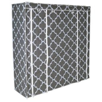 Szafka tekstylna z 12 półkami KAJA MIDI Maroko - szaro-biała