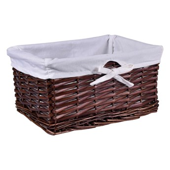 Koszyk wiklinowy 30x20x15 cm brązowy