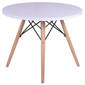 Stolik kawowy okrągły Massimo 60cm biały