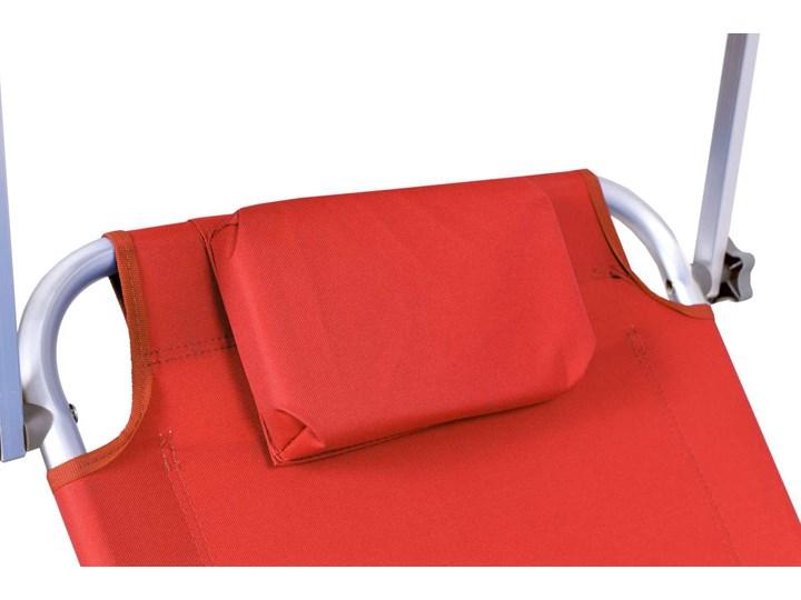 Leżak plażowy z kółkami Martin - RED Z regulowanym oparciem Aluminium Na kółkach Kategoria Leżaki ogrodowe